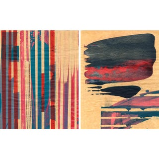 Mixed Media Print - Red Meets Blue No. 13 & 11