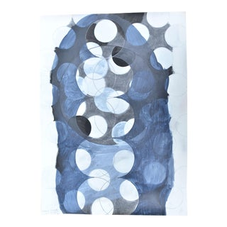 """Moon Phases"" Mixed Media Painting"
