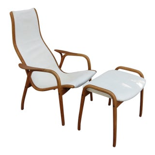 Mid-Century Modern Lamino Chair & Ottoman
