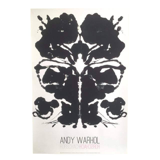Andy Warhol Original Offset Lithograph Print Poster Rorschach Ink Blot - Image 1 of 7