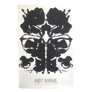 Andy Warhol Original Offset Lithograph Print Poster Rorschach Ink Blot