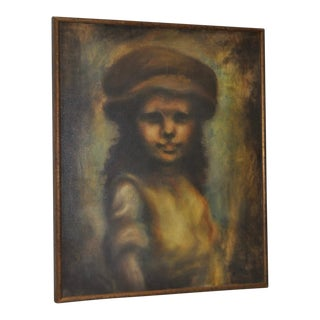 "Bruce Xavier Balfour ""Young Girl"" Original Oil Painting"