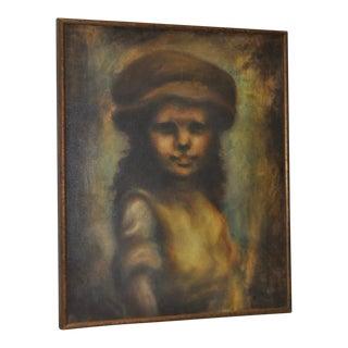 "Bruce Xavier Balfour ""Young Girl"" Original Oil Painting"