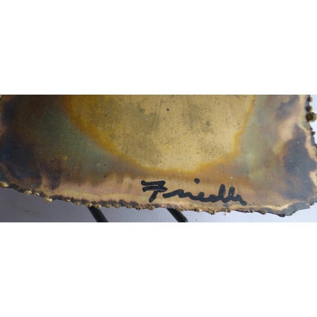 Signed Friedle Metal Wildflower Sculpture - Image 6 of 11