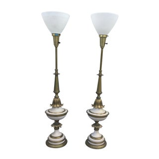 1960's Stiffel Hollywood Regency Table Lamps