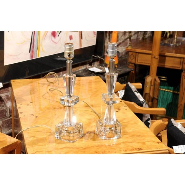 Art Deco Petite Crystal and Glass Lamps - Image 5 of 6
