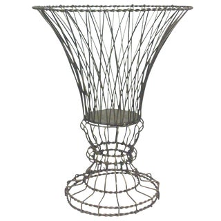 Architectural Twisted Wire Footed Urn