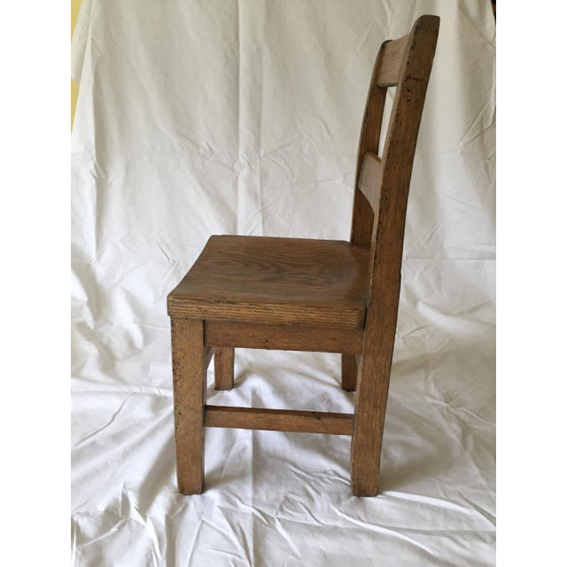 Oak Child's Desk Chair - Image 4 of 4
