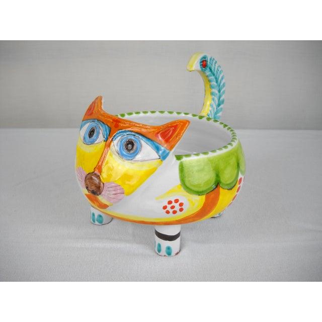 Mid-Century DeSimone Ceramic Cat Bowl - Image 3 of 8