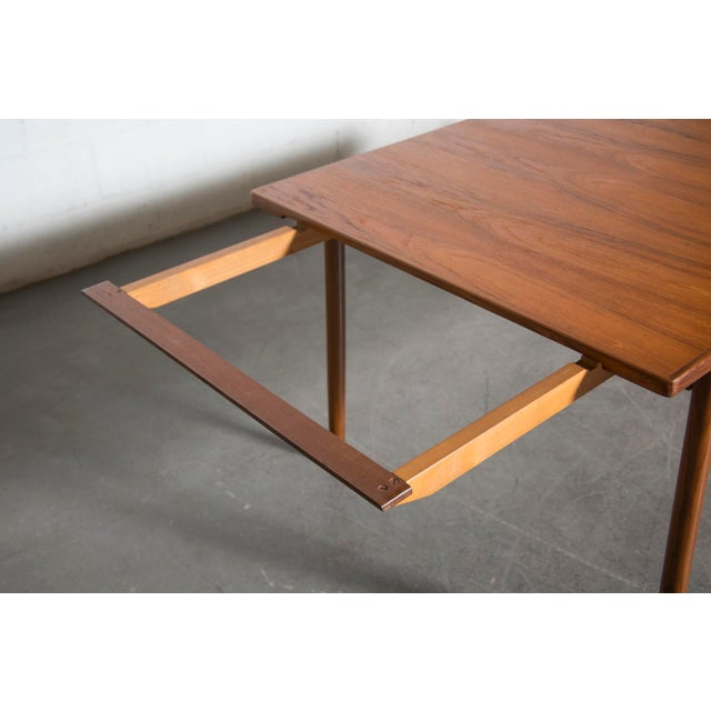 Mid-Century Carved Teak Dining Table - Image 8 of 9