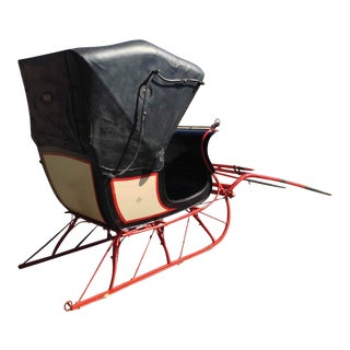 Antique Doctor Sleigh Covered Christmas Sled