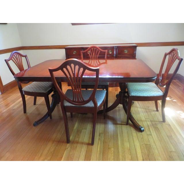 Drexel Heritage Dining Room Set: Vintage Drexel Mahogany Dining Set