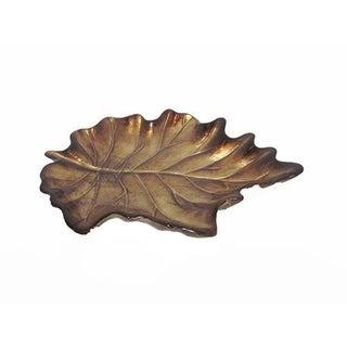 Modern Organic Hand-Painted Glass Leaf Plate
