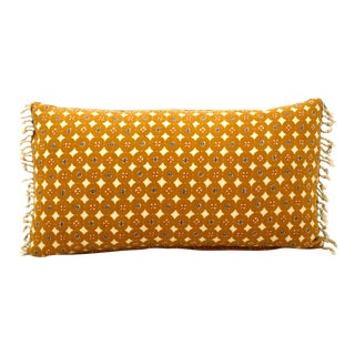 Indian Block Print Fringed Pillow