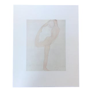 Auguste Rodin Nude Dancer Offset Print
