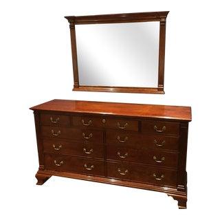Stickley Colonial Williamsburg Chippendale Dresser & Mirror