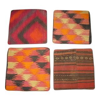 Vintage Afghan Kilim Pillow Cases- Set of 4
