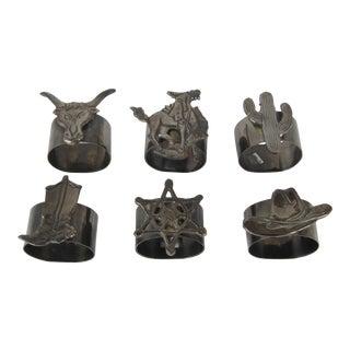 Cowboy Napkin Rings - Set of 6