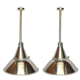 Large Pair of Industrial Hanging Lights