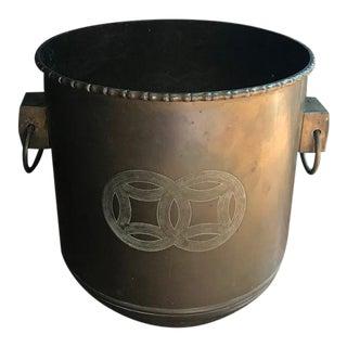 Chinoiserie Brass Planter