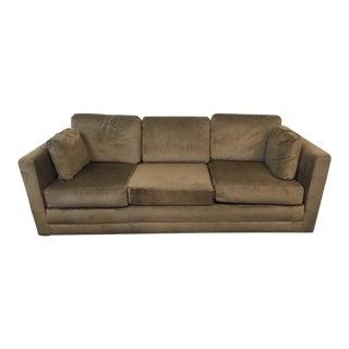 Contemporary Upholstered Three-Cushion Sofa