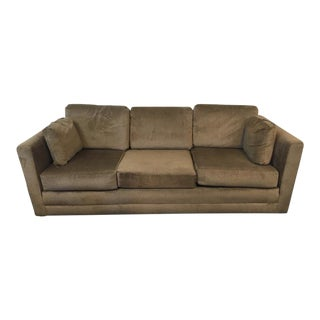 Contemporary Upholstered Three-Cushion Sofa