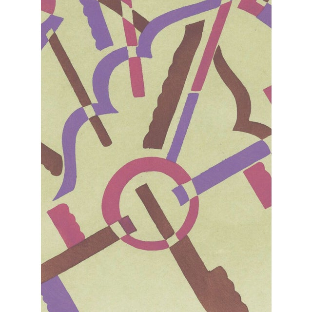 Serge gladky art deco composition no 32 pochoir chairish for Pochoir deco