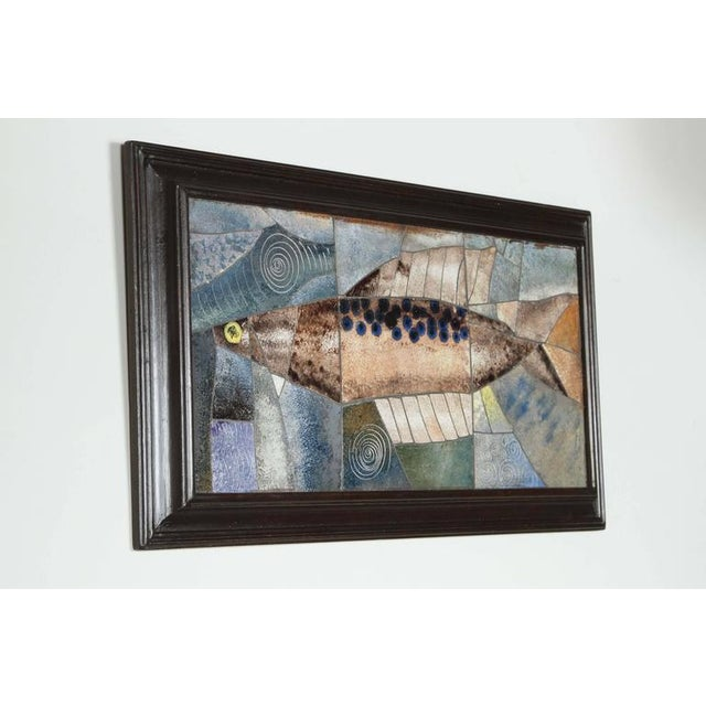 Mid-Century Framed Fish Tile - Image 2 of 7