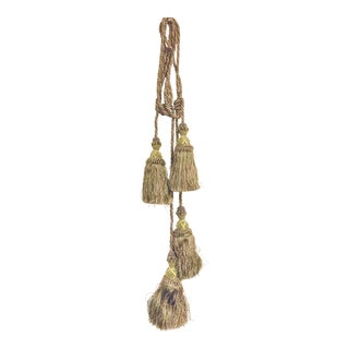 Gold Curtain Tieback Tassels - A Pair