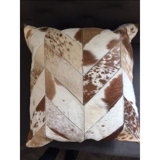 Nourison Cowhide Pillows - A Pair - Image 5 of 7