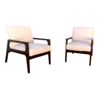 Mid Century Modern Style Arm Chairs- Pair