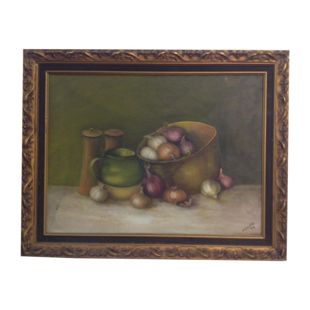 Image of Still Life Oil Painting on Canvas