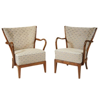 Danish Modern Lady & Gent's Chairs - A Pair