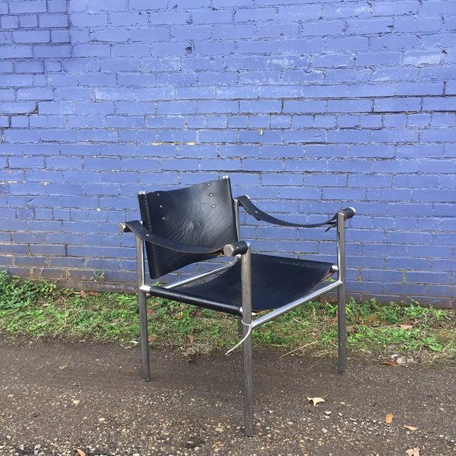 Mid Century Safari Leather Chair - Image 3 of 11