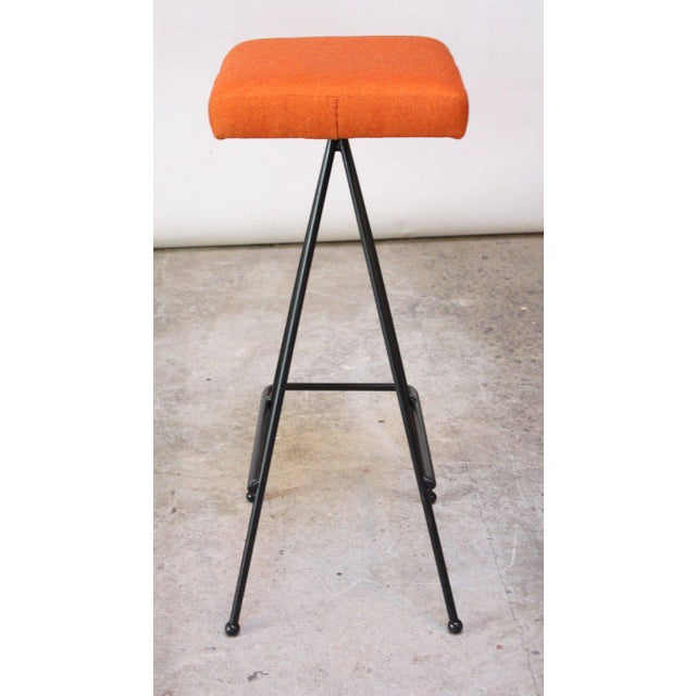 Set of Four Adrian Pearsall #11 Iron Barstools - Image 7 of 11