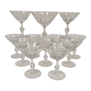 Vintage Coupe Champagne Glasses – Set of 12