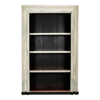 19th Century Door Frame Bookcase with Copper Lined Shelves