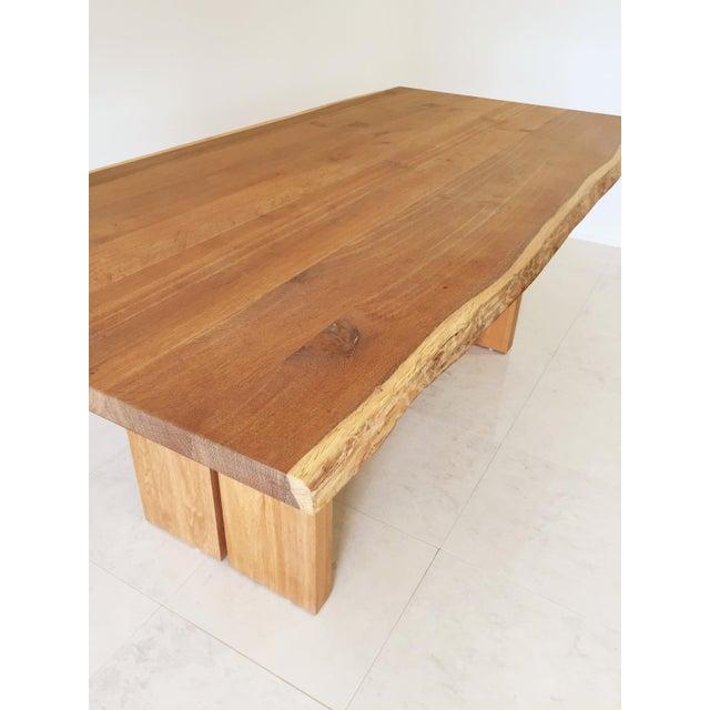White Oak Slab Live Edge Dining Table - Image 4 of 9