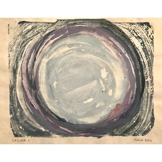 """La Luna I"" Hand Made Monotype Painting"