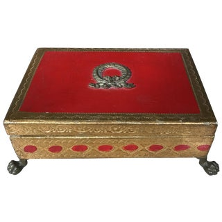 Italian Gilt Footed Trinket Box