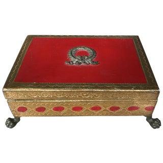 Italian Gilt Footed Trinket Box