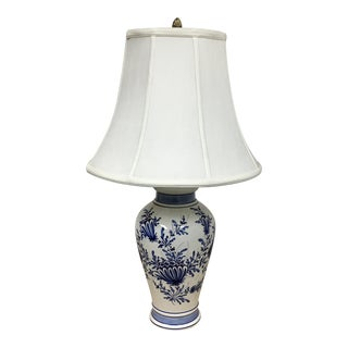Eximious of London Blue & White Hand Painted Table Lamp