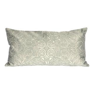 Arabesque I Silver Grey Silk Pillow