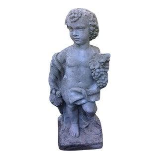 Concrete Cast Stone Cherub Statue