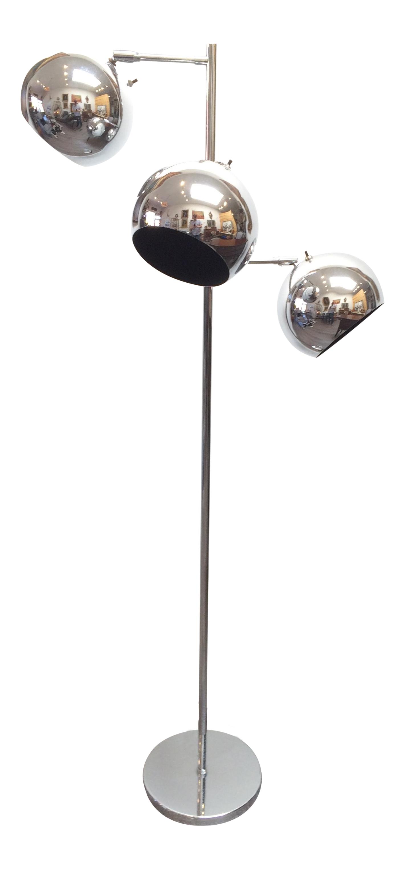 robert sonneman 1970u0027s chrome 3light floor lamp - Sonneman Lighting