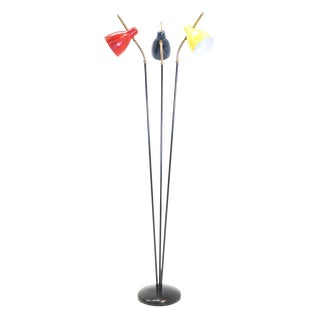 Italian Three Post/Arm Floor Lamp