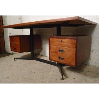 Italian Midcentury Desk with Floating Top