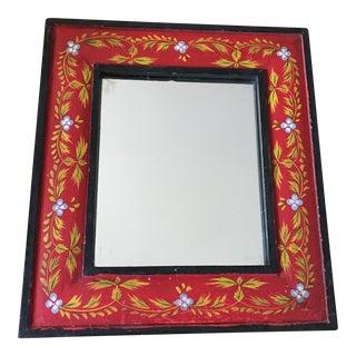 Rustic Bohemian Painted Wall Mirror
