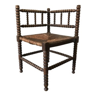 Antique Corner Spindle Chair