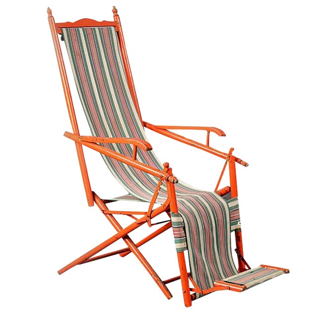 1940s French Outdoor Recliner - Image 1 of 5